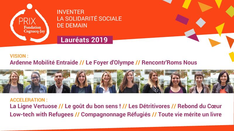 Lauréats 2019 Prix Fondation Cognacq-Jay