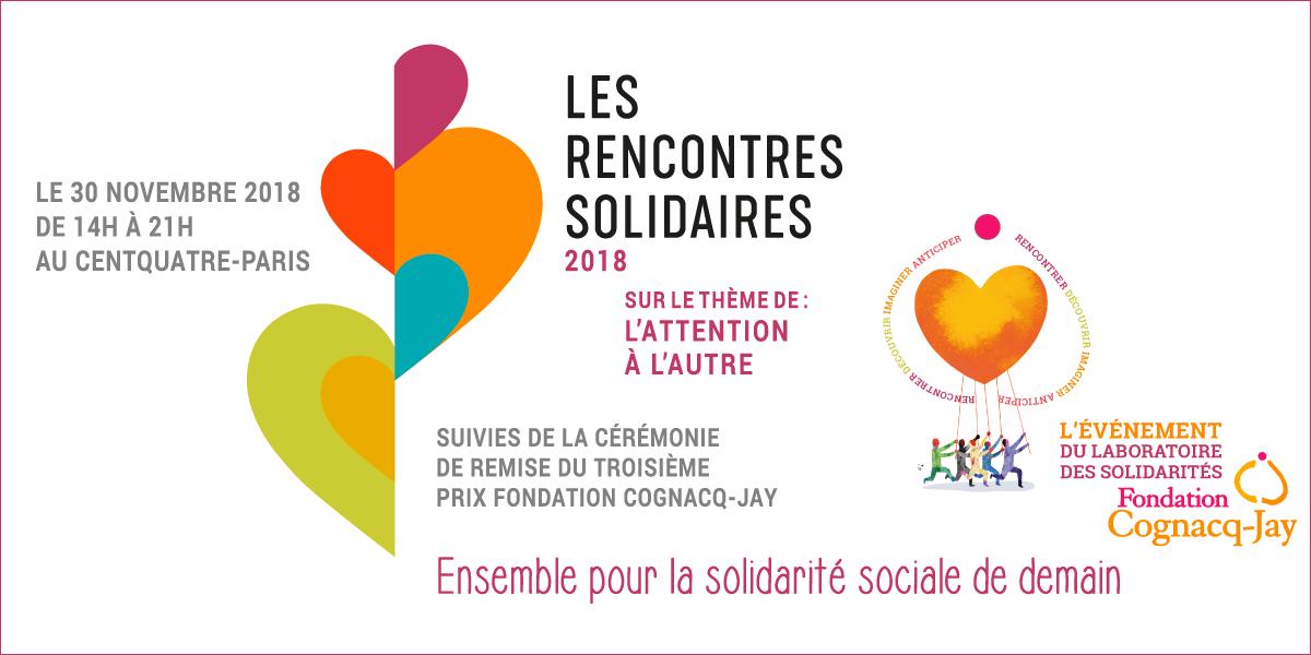 Participez aux Rencontres Solidaires 2018 le 30 novembre au CENTQUATRE-PARIS